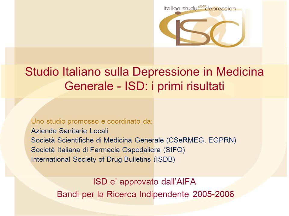 Studio Italiano sulla Depressione in Medicina Generale - ISD: i primi risultati