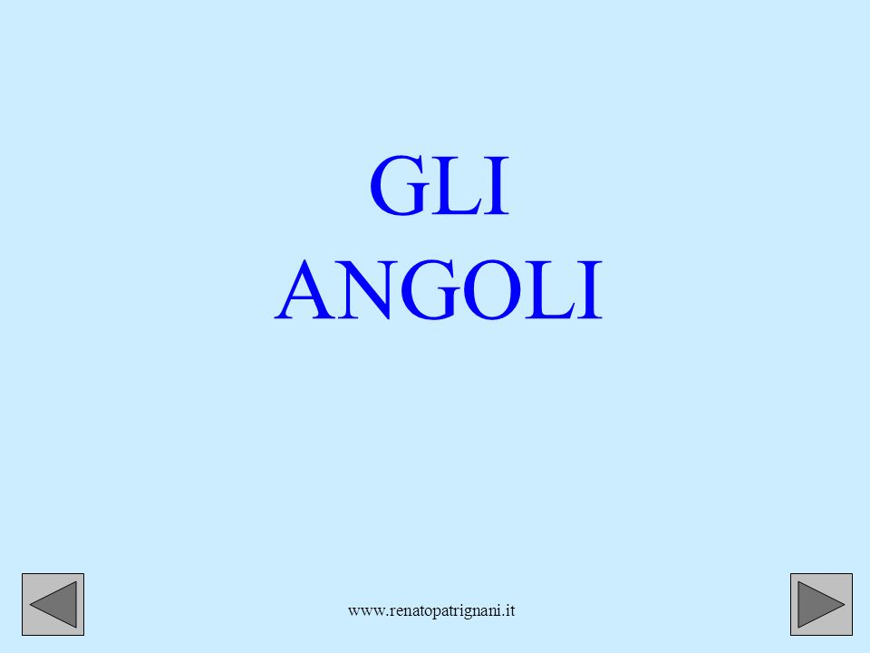 GLI ANGOLI www.renatopatrignani.it