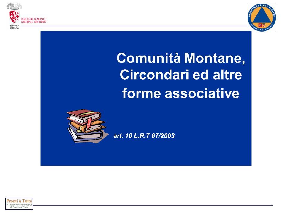 Comunità Montane, Circondari ed altre forme associative