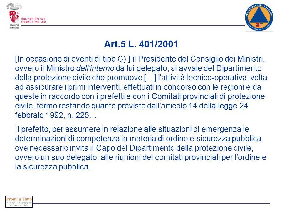 Art.5 L. 401/2001