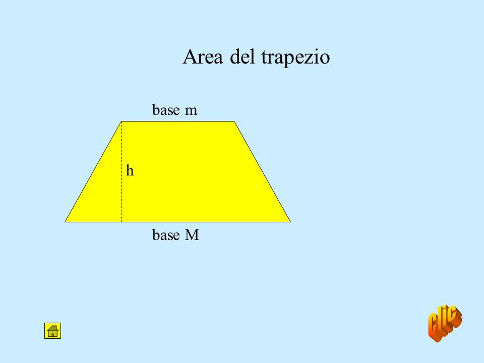 Area del trapezio base m h base M clic