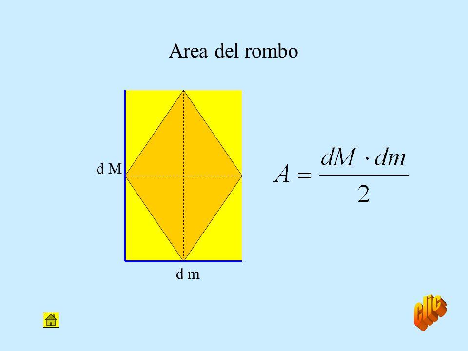 Area del rombo d M d m clic