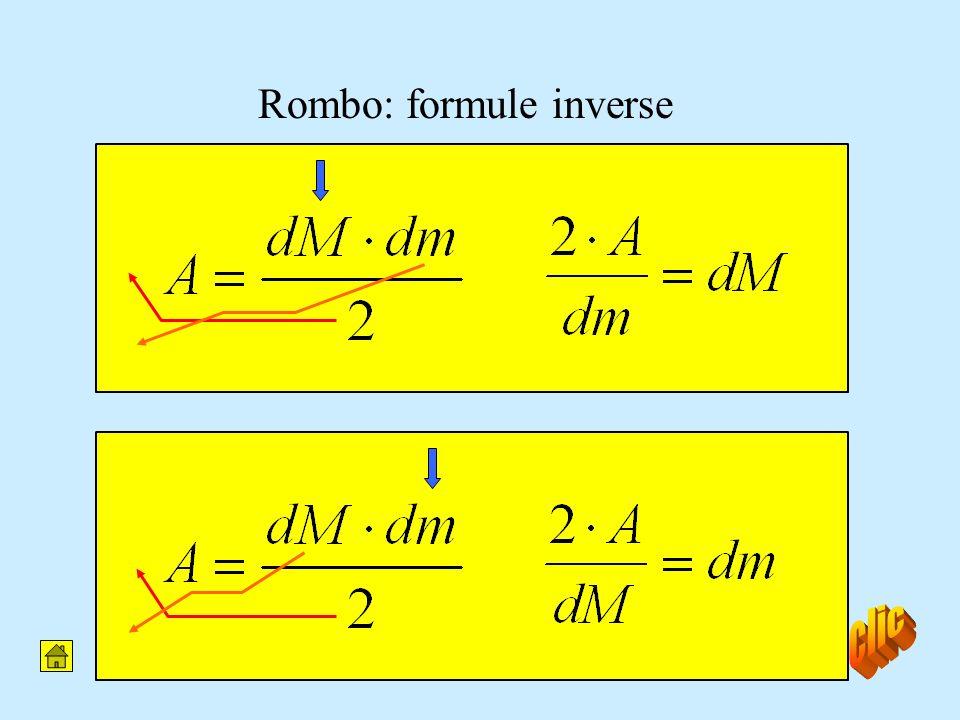 Rombo: formule inverse