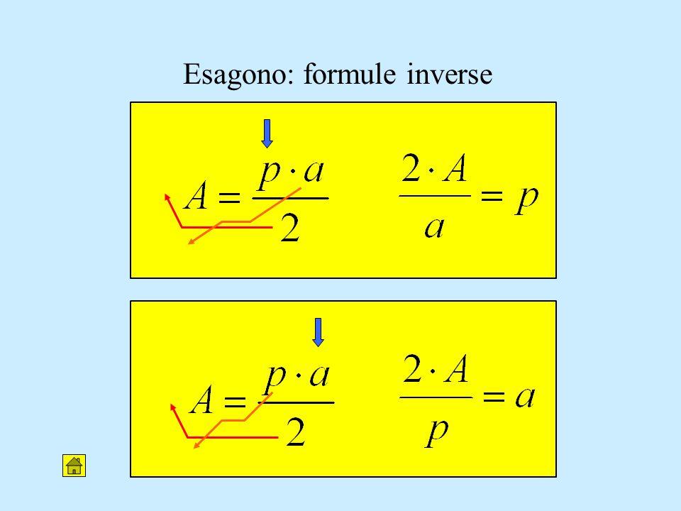 Esagono: formule inverse