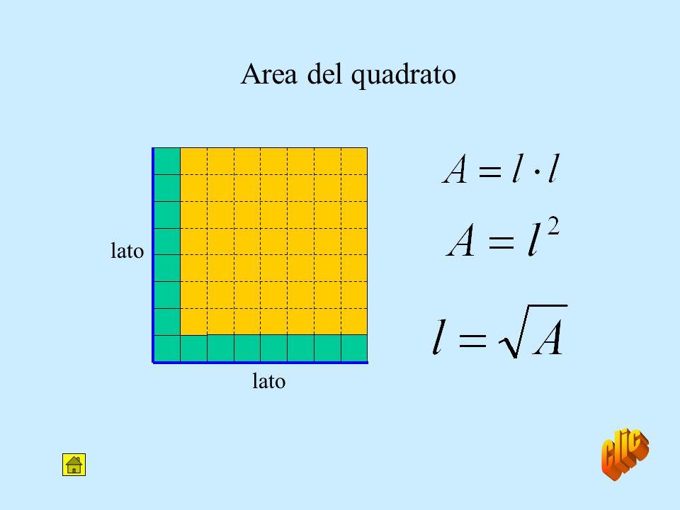 Area del quadrato lato lato clic
