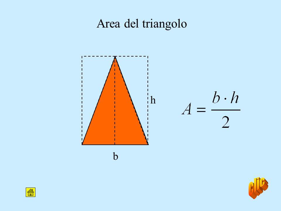 Area del triangolo h b clic