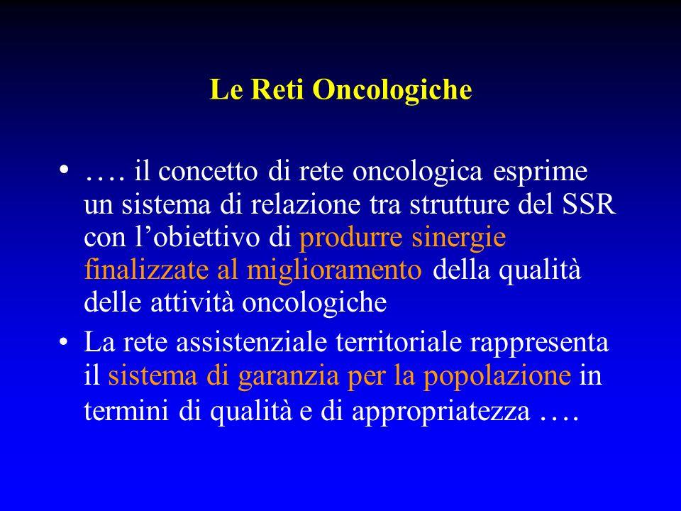 Le Reti Oncologiche