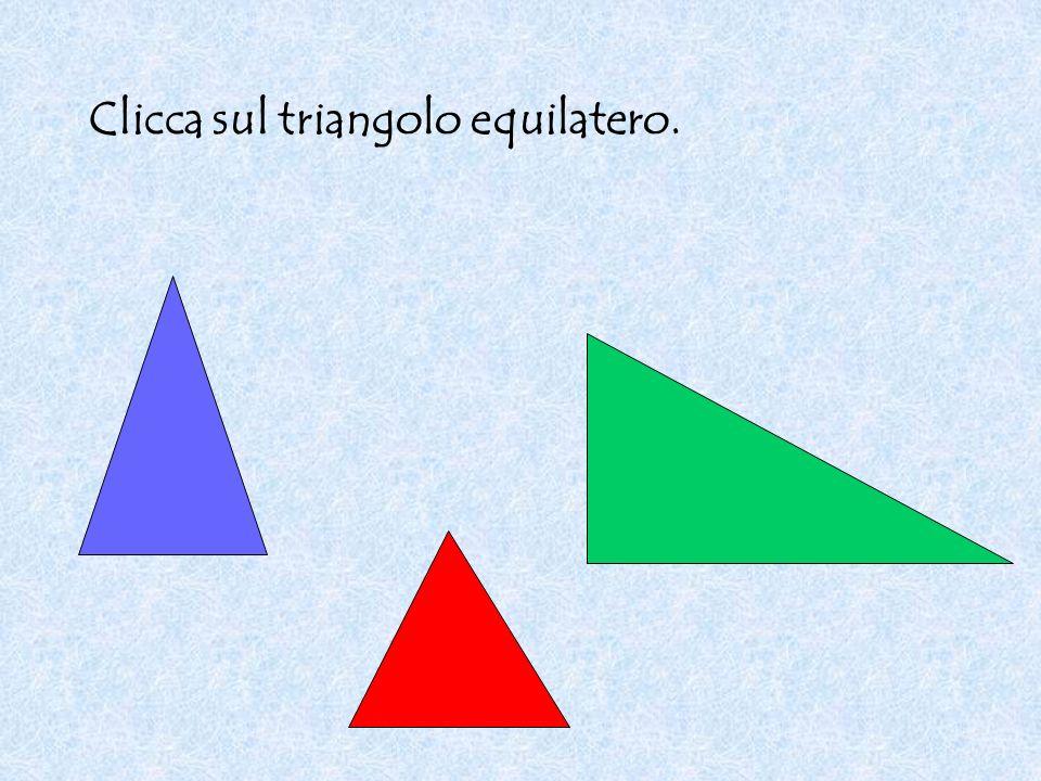 Clicca sul triangolo equilatero.