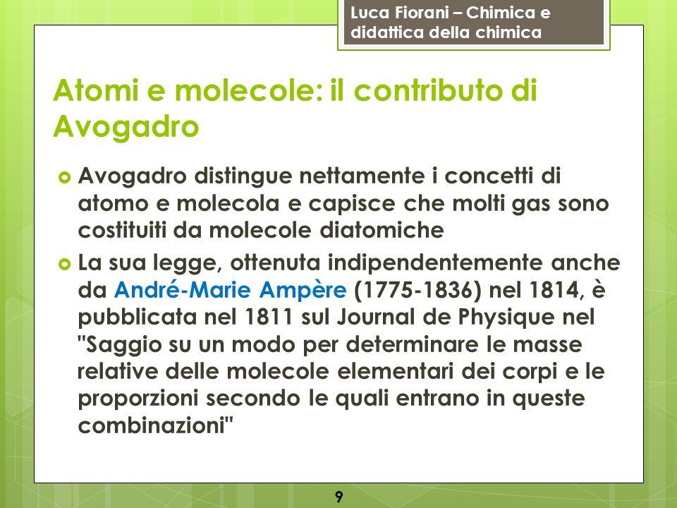 Atomi e molecole: il contributo di Avogadro