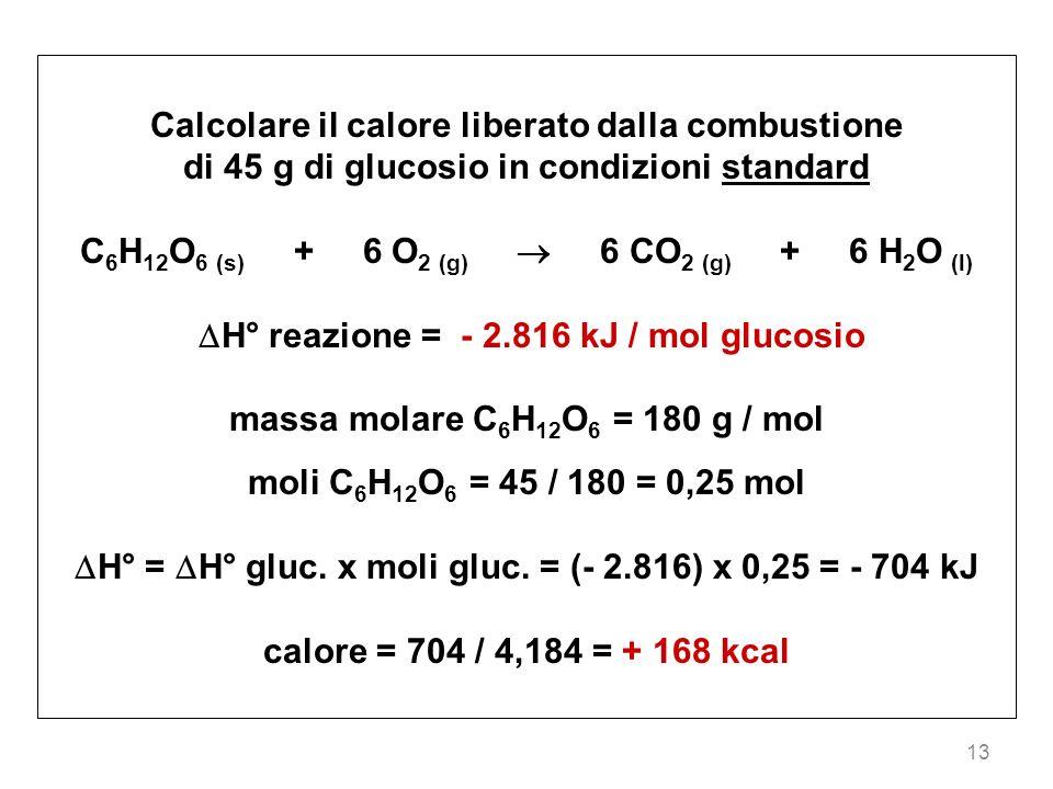 Calcolare il calore liberato dalla combustione