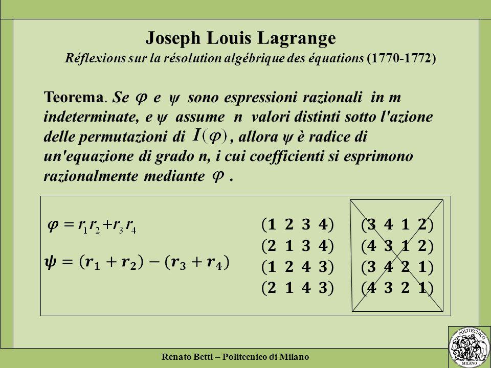 Réflexions sur la résolution algébrique des équations (1770-1772)