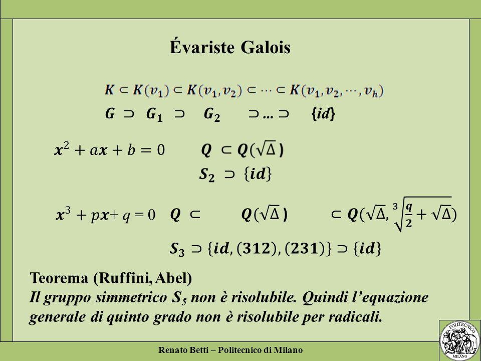Évariste Galois 𝑮 ⊃ 𝑮 𝟏 ⊃ 𝑮 𝟐 ⊃ … ⊃ {id} 𝒙 2 +𝑎𝒙+𝑏=0