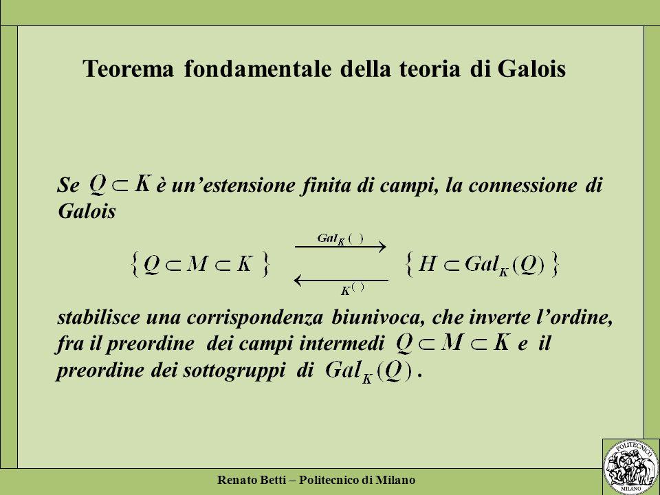 Teorema fondamentale della teoria di Galois