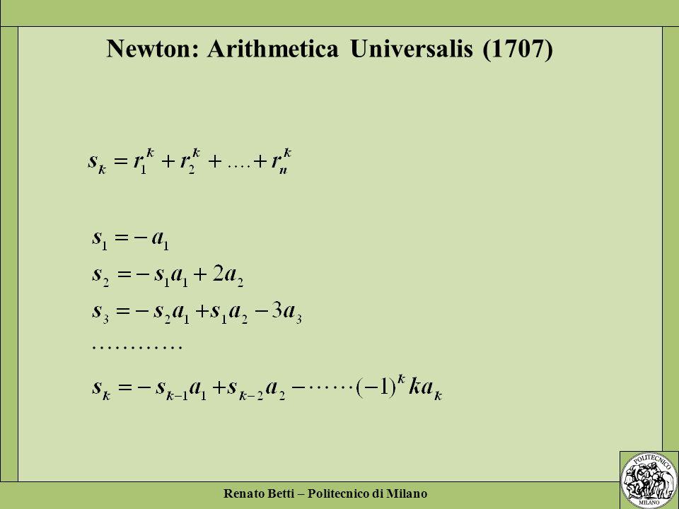 Newton: Arithmetica Universalis (1707)