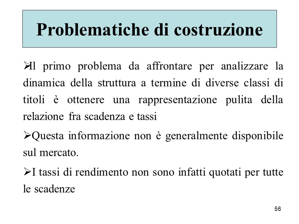 Problematiche di costruzione