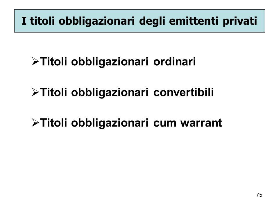 I titoli obbligazionari degli emittenti privati