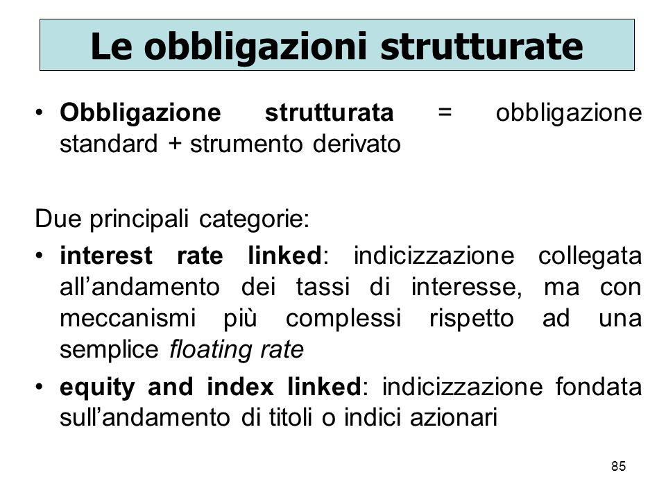 Le obbligazioni strutturate
