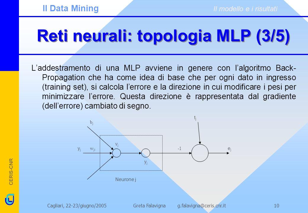Reti neurali: topologia MLP (3/5)