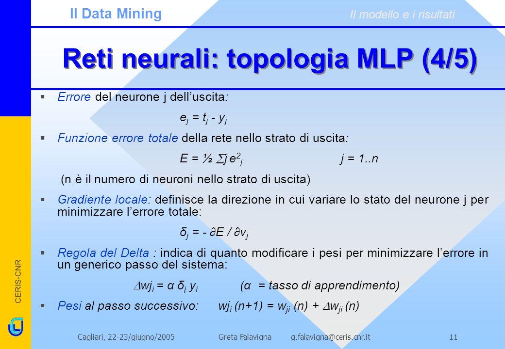 Reti neurali: topologia MLP (4/5)