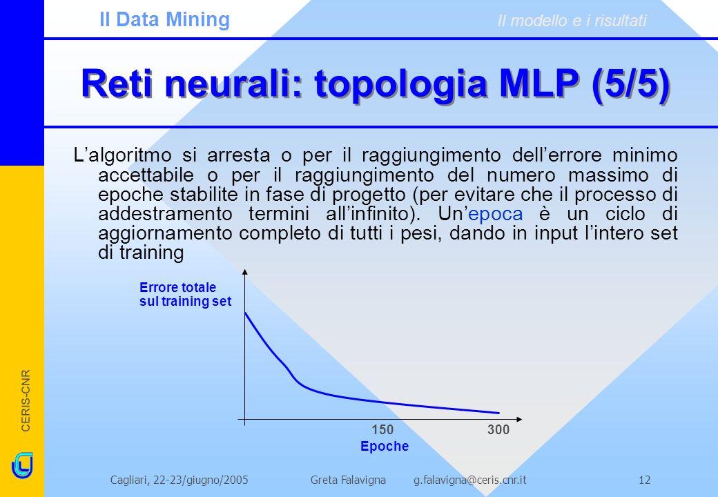 Reti neurali: topologia MLP (5/5)