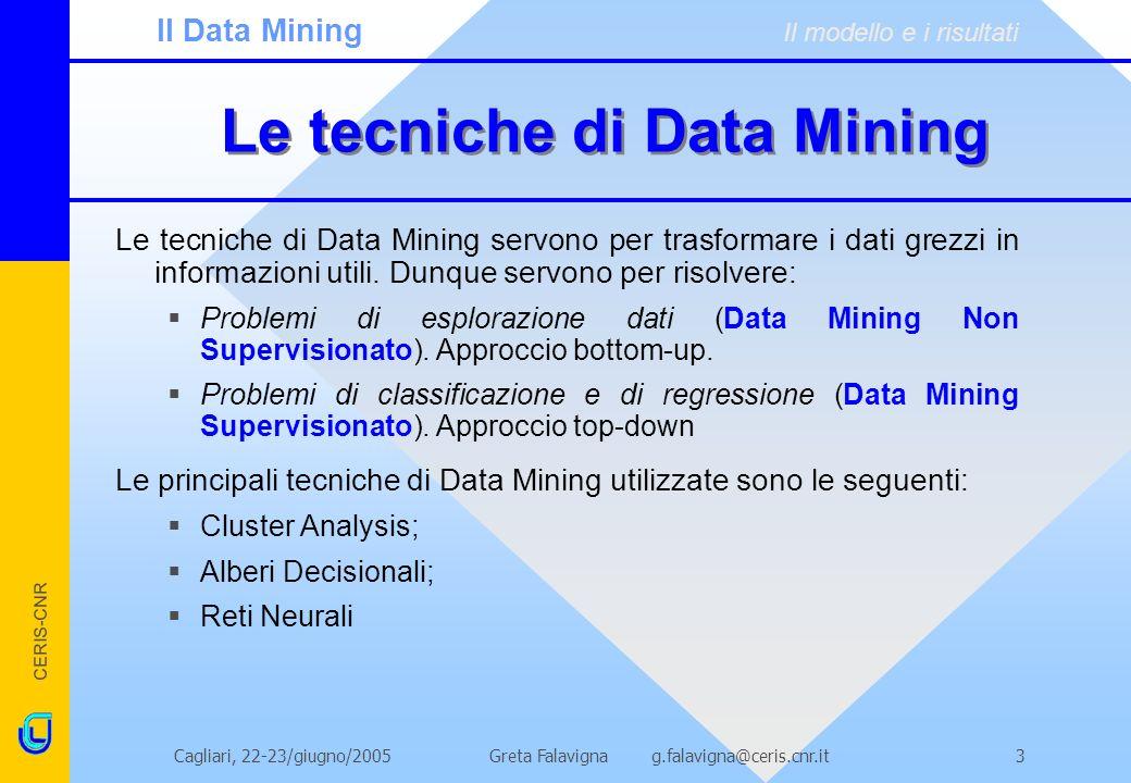 Le tecniche di Data Mining