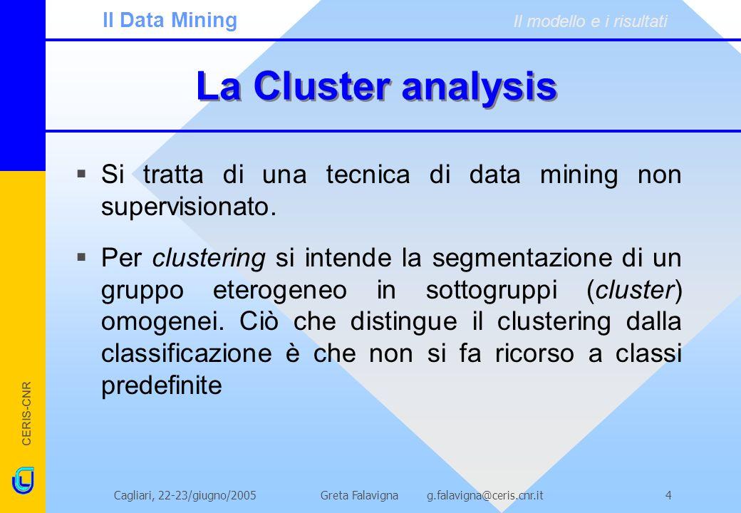 Il Data Mining Il modello e i risultati