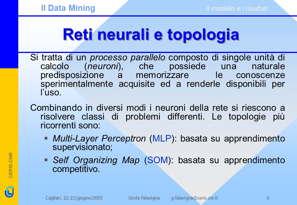 Reti neurali e topologia