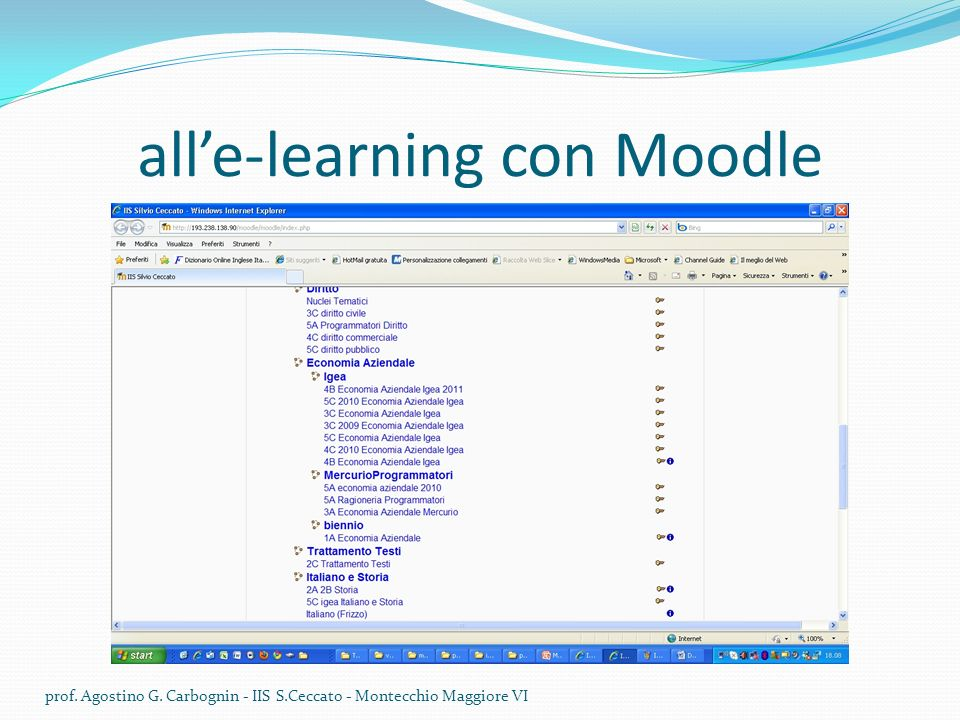 all'e-learning con Moodle
