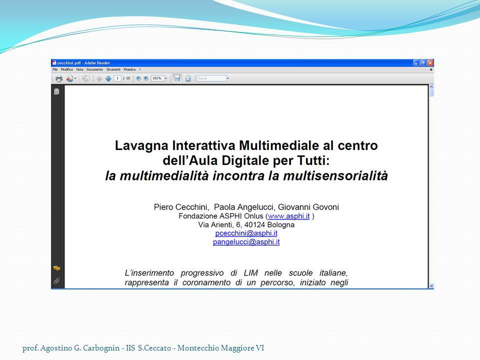 prof. Agostino G. Carbognin - IIS S.Ceccato - Montecchio Maggiore VI