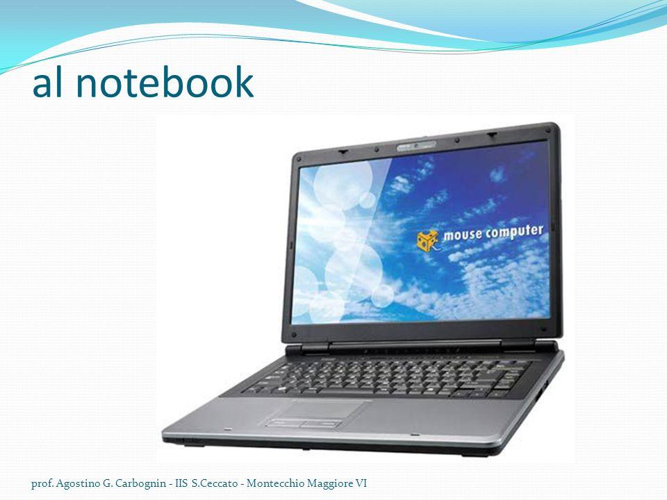 al notebook prof. Agostino G. Carbognin - IIS S.Ceccato - Montecchio Maggiore VI