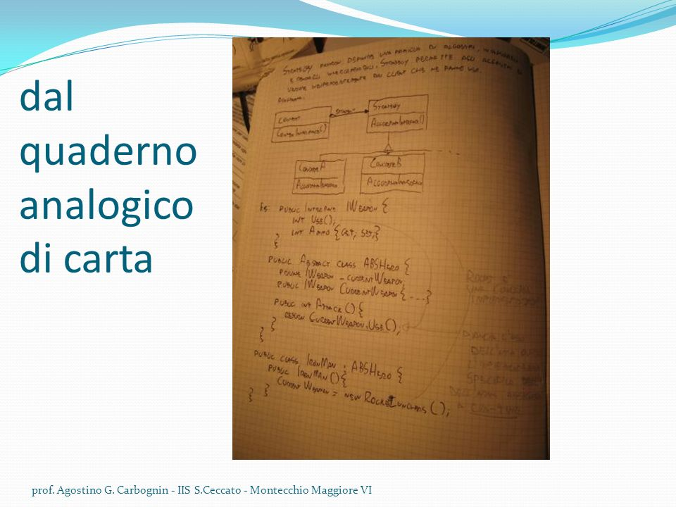 dal quaderno analogico di carta