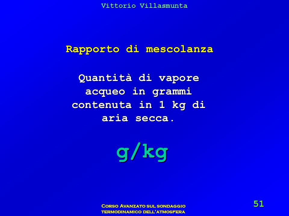 g/kg Rapporto di mescolanza