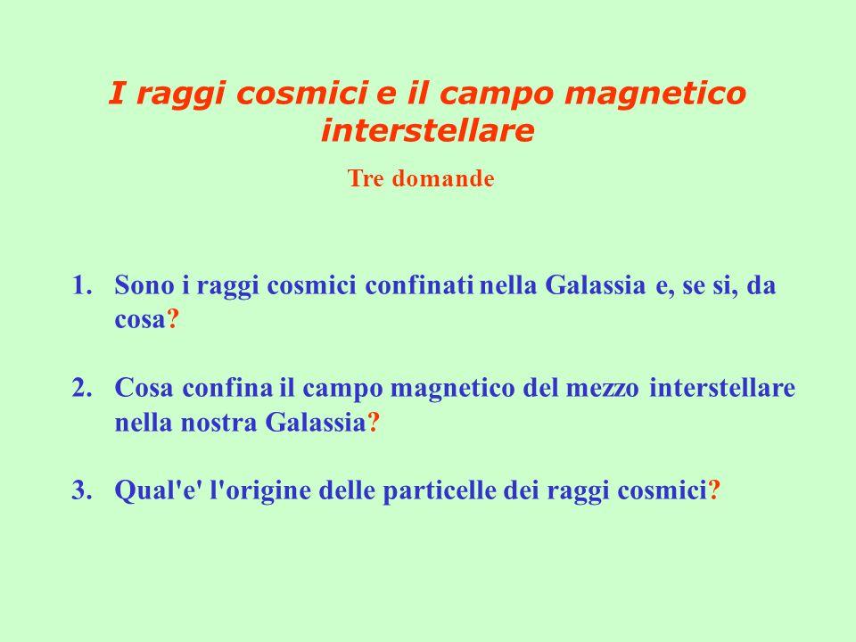 I raggi cosmici e il campo magnetico interstellare