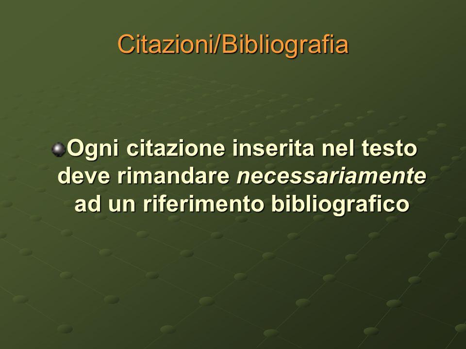 Citazioni/Bibliografia