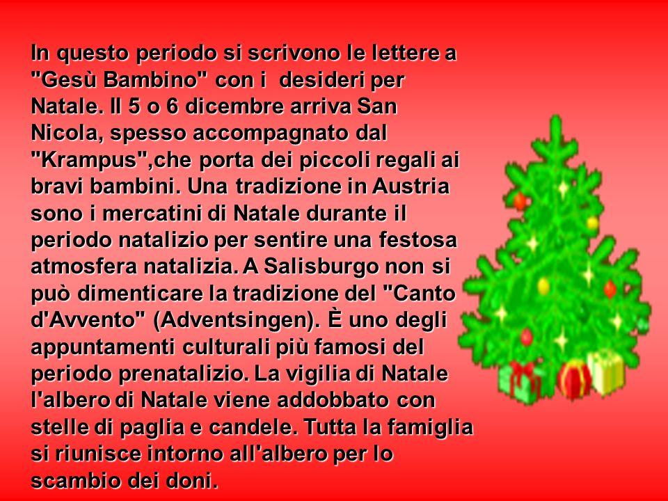 In questo periodo si scrivono le lettere a Gesù Bambino con i desideri per Natale.