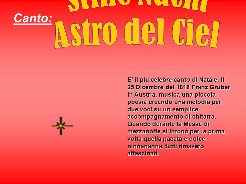 Canto: Stille Nacht Astro del Ciel