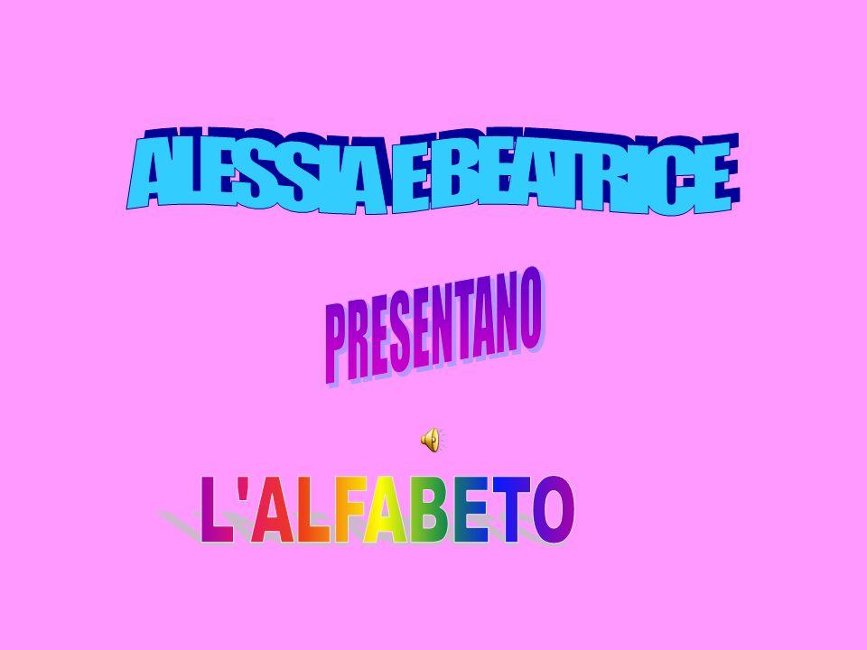 ALESSIA E BEATRICE PRESENTANO L ALFABETO