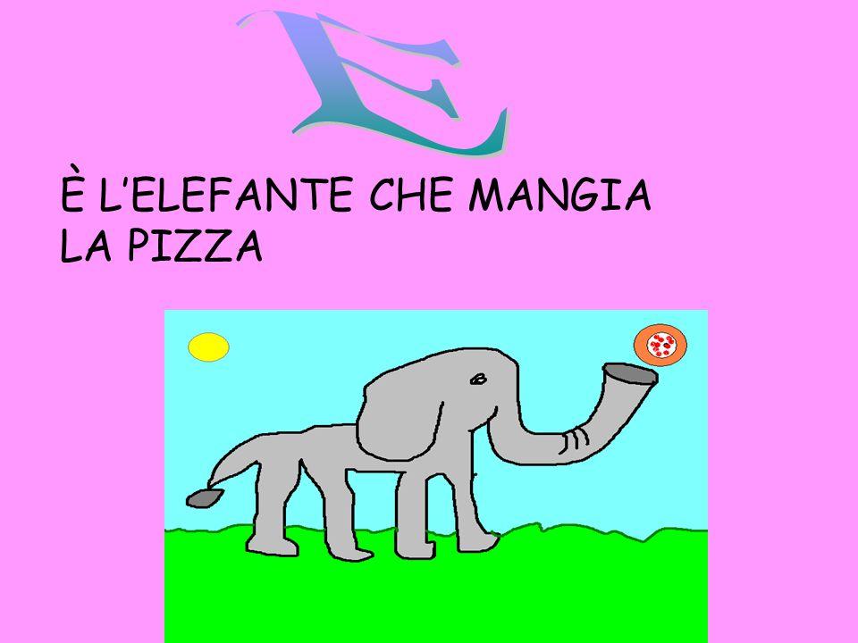 E È L'ELEFANTE CHE MANGIA LA PIZZA