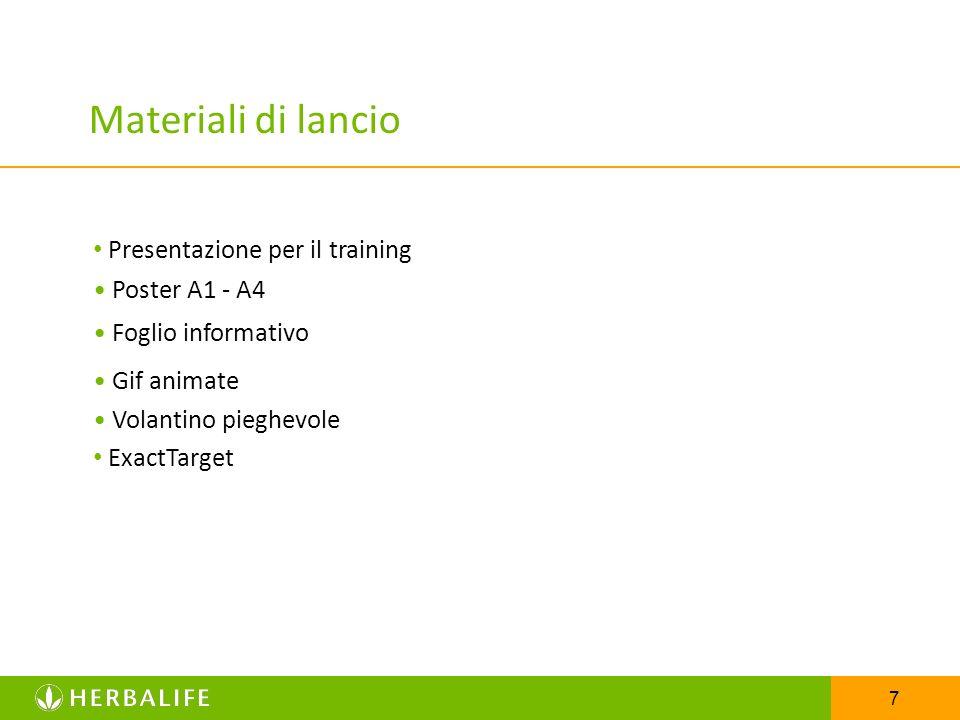 Materiali di lancio • Presentazione per il training • Poster A1 - A4