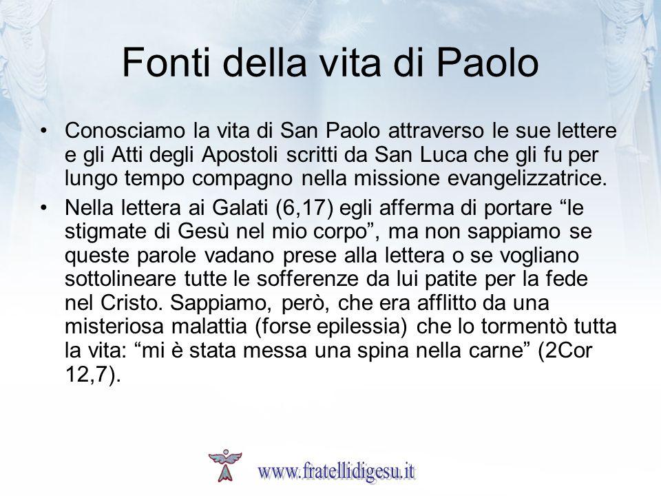 Fonti della vita di Paolo