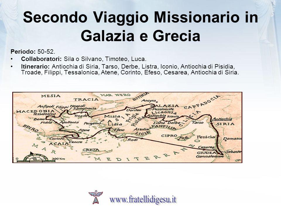 Secondo Viaggio Missionario in Galazia e Grecia