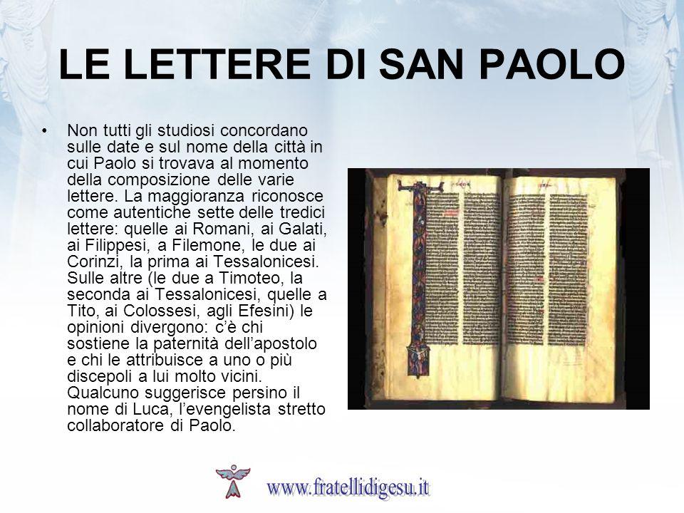 LE LETTERE DI SAN PAOLO www.fratellidigesu.it