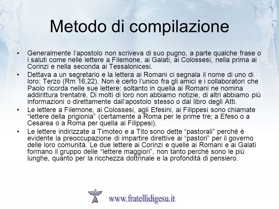 Metodo di compilazione