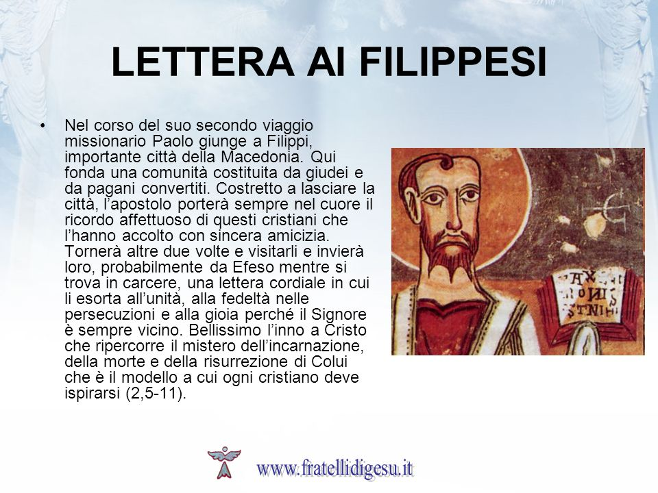 LETTERA AI FILIPPESI www.fratellidigesu.it