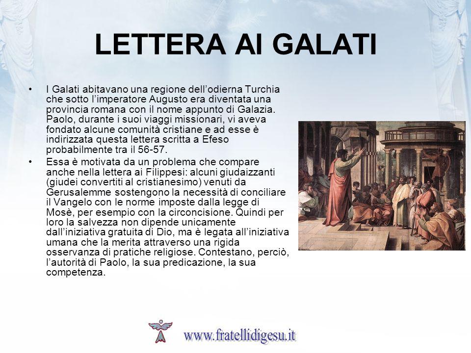 LETTERA AI GALATI www.fratellidigesu.it