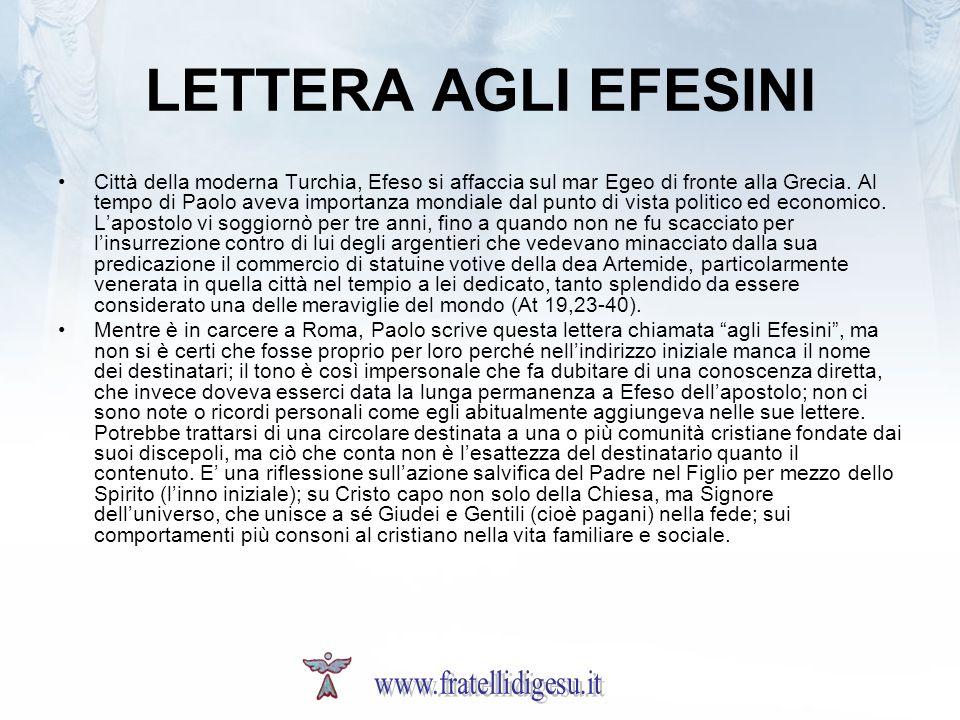 LETTERA AGLI EFESINI www.fratellidigesu.it