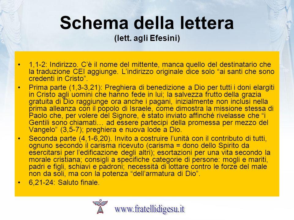 Schema della lettera (lett. agli Efesini)