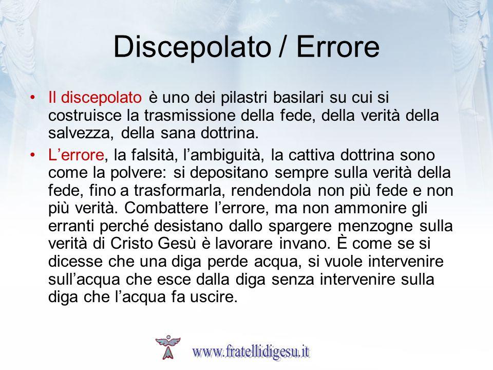 Discepolato / Errore