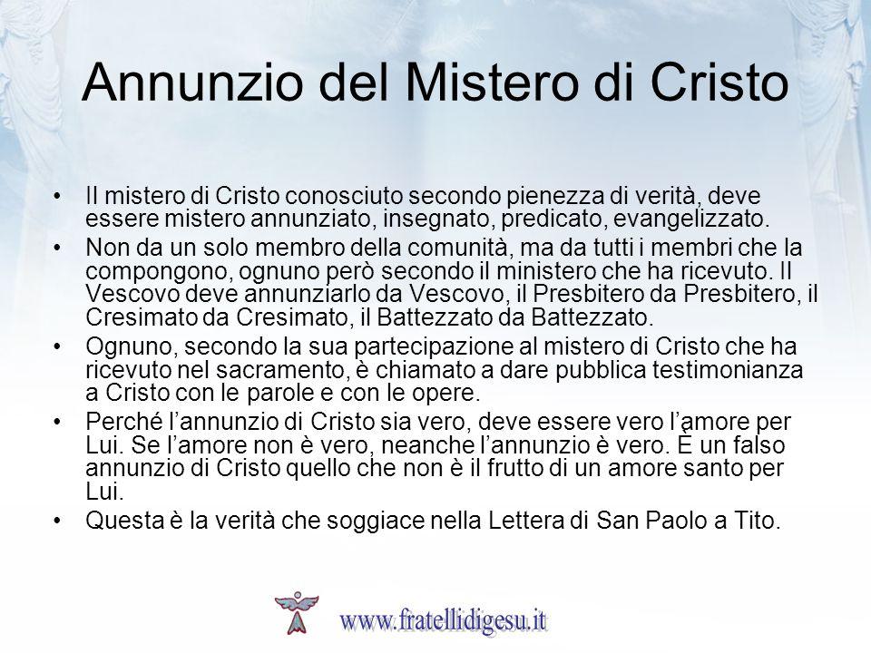 Annunzio del Mistero di Cristo