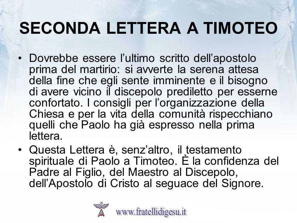SECONDA LETTERA A TIMOTEO
